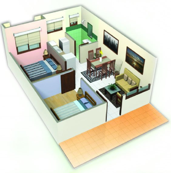 2-Bedroom Unit at One Oasis Davao