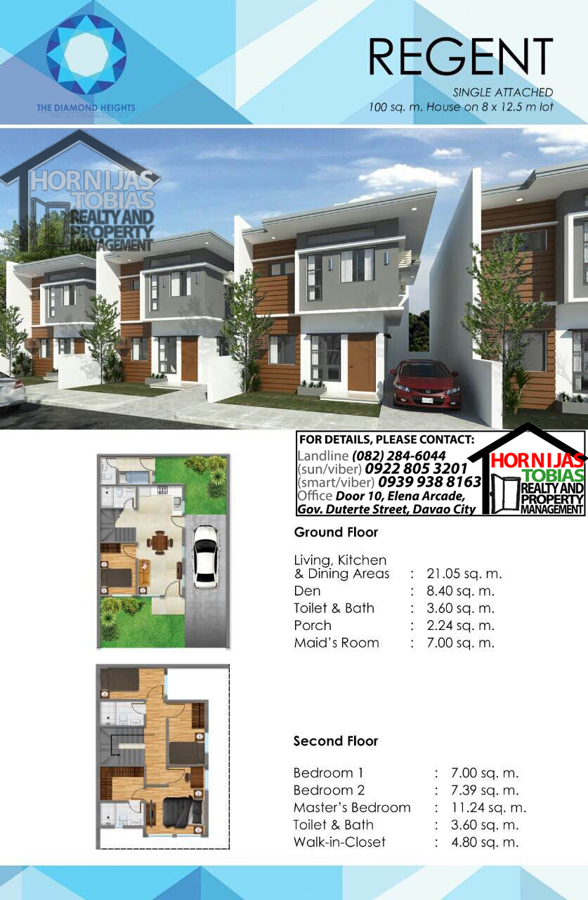 Regent house diamond heights davao property finder Regent heights floor plan