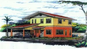 Gloria House - This 2 storey house for sale in Davao has 4 bedrooms and 3 toilets and baths. Can be thru pag-ibig financing.