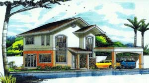 Karen House - This 2 storey house for sale in Davao has 3 bedrooms and 3 toilets and baths. Can be thru pag-ibig housing in Davao.