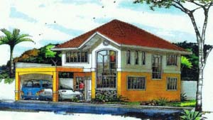 Linda House - This 2 storey house for sale in Davao has 4 bedrooms and 3 toilets and baths. Can be thru pag-ibig housing.