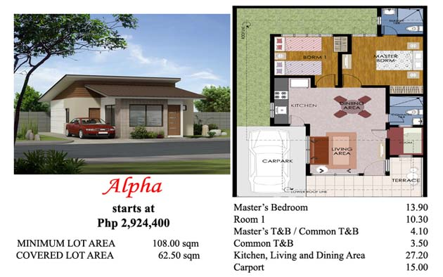 This is the Alpha house model at Villa Azalea Davao
