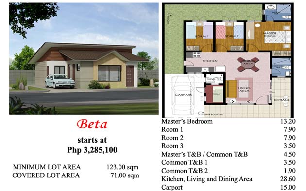 This is the Beta house model at Villa Azalea Davao