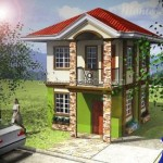 Chula Vista Davao's Monte Alto house model. This 2 storey house for sale in Davao has 3 bedrooms and 2 toilets and baths. Can be though Pag-ibig housing.