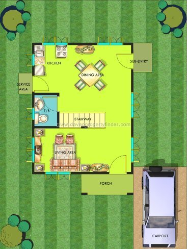 Monte Alto house floorplan | Chula Vista Davao (ground floor)