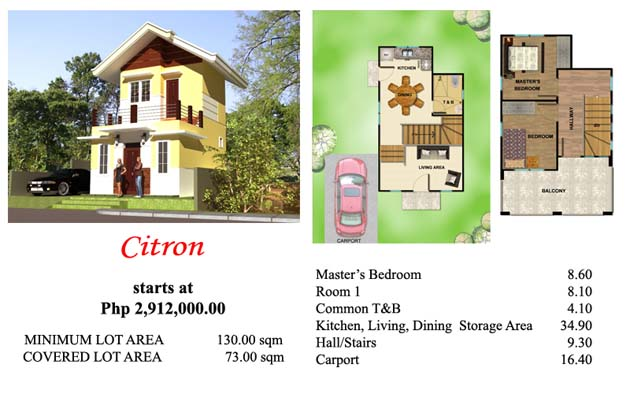 This is Villa Azalea's 2 storey house Citron