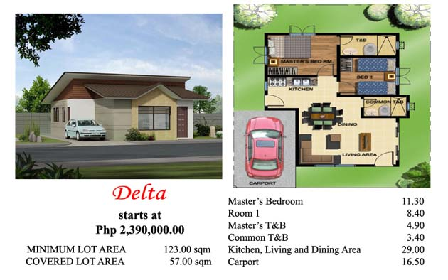 This is the Delta house model at Villa Azalea Davao