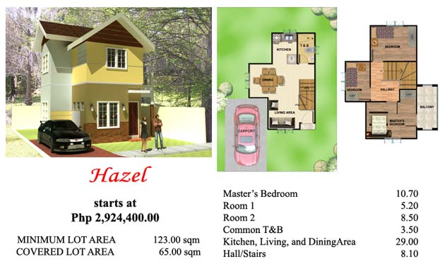 This is Villa Azalea's 2 storey house Hazel