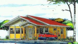 Keisha House - This house for sale in Davao has 3 bedrooms and 2 toilets and baths. Can be thru pag-ibig financing.