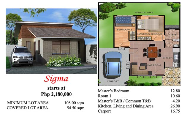 This is the Sigma house model at Villa Azalea Davao