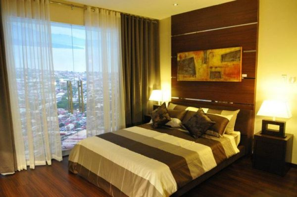 2 bedroom executive master bedroom at aeon towers