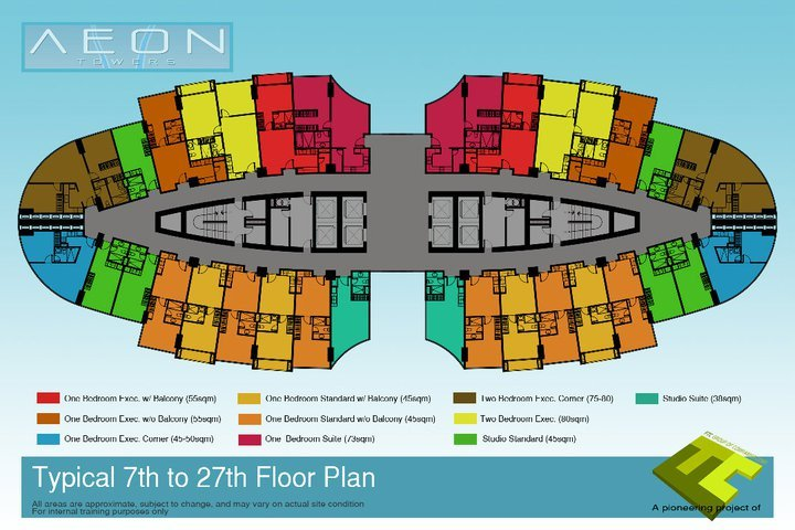 This is the typical floor plan for Aeon Towers Davao City