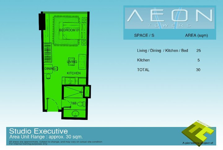 Executive studio unit at Aeon Davao