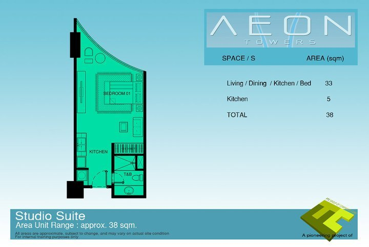 Affordable studio type condo at Aeon Towers