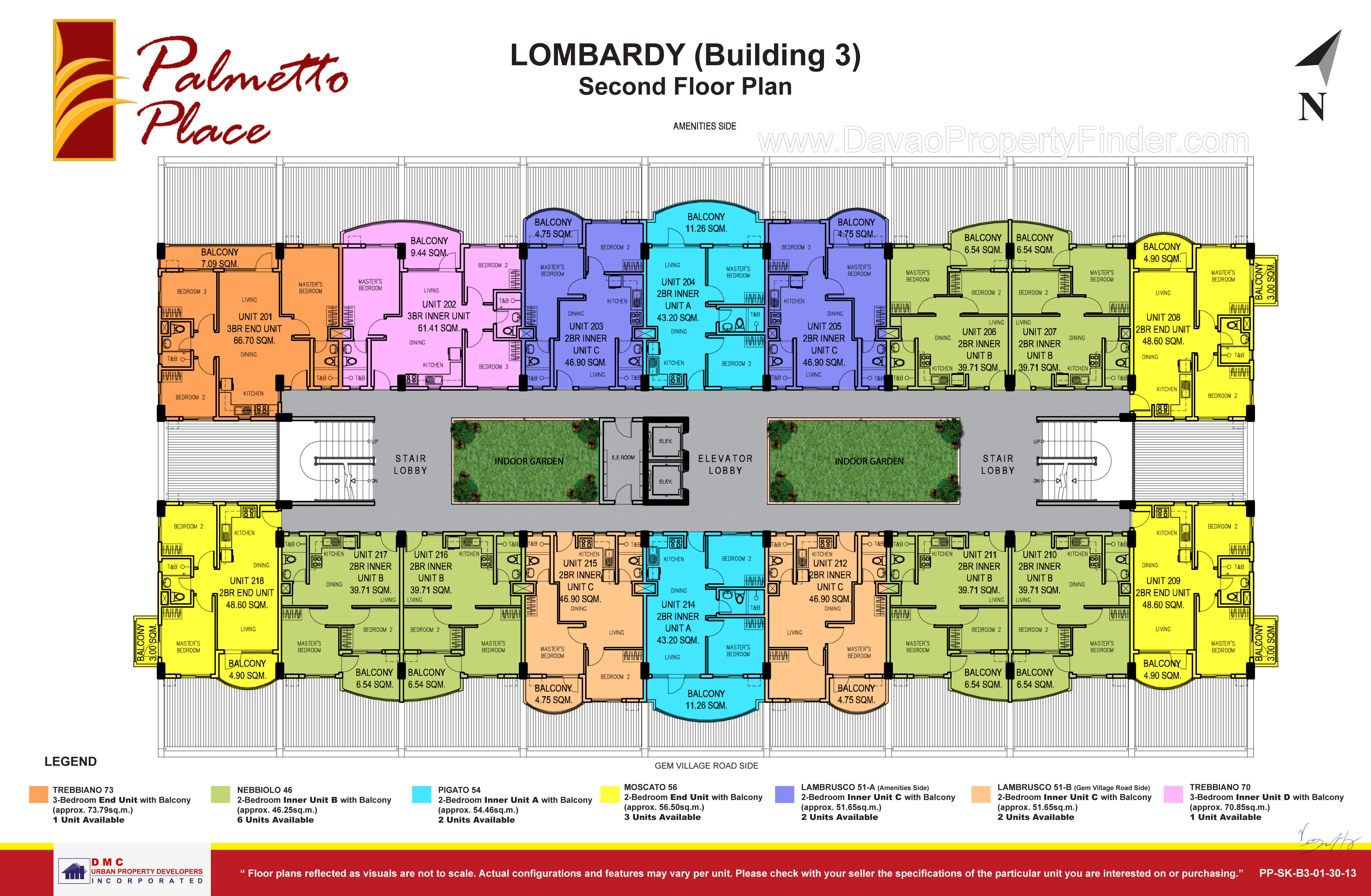 Palmetto place building 3 grand floor plans davao for Floor plan finder