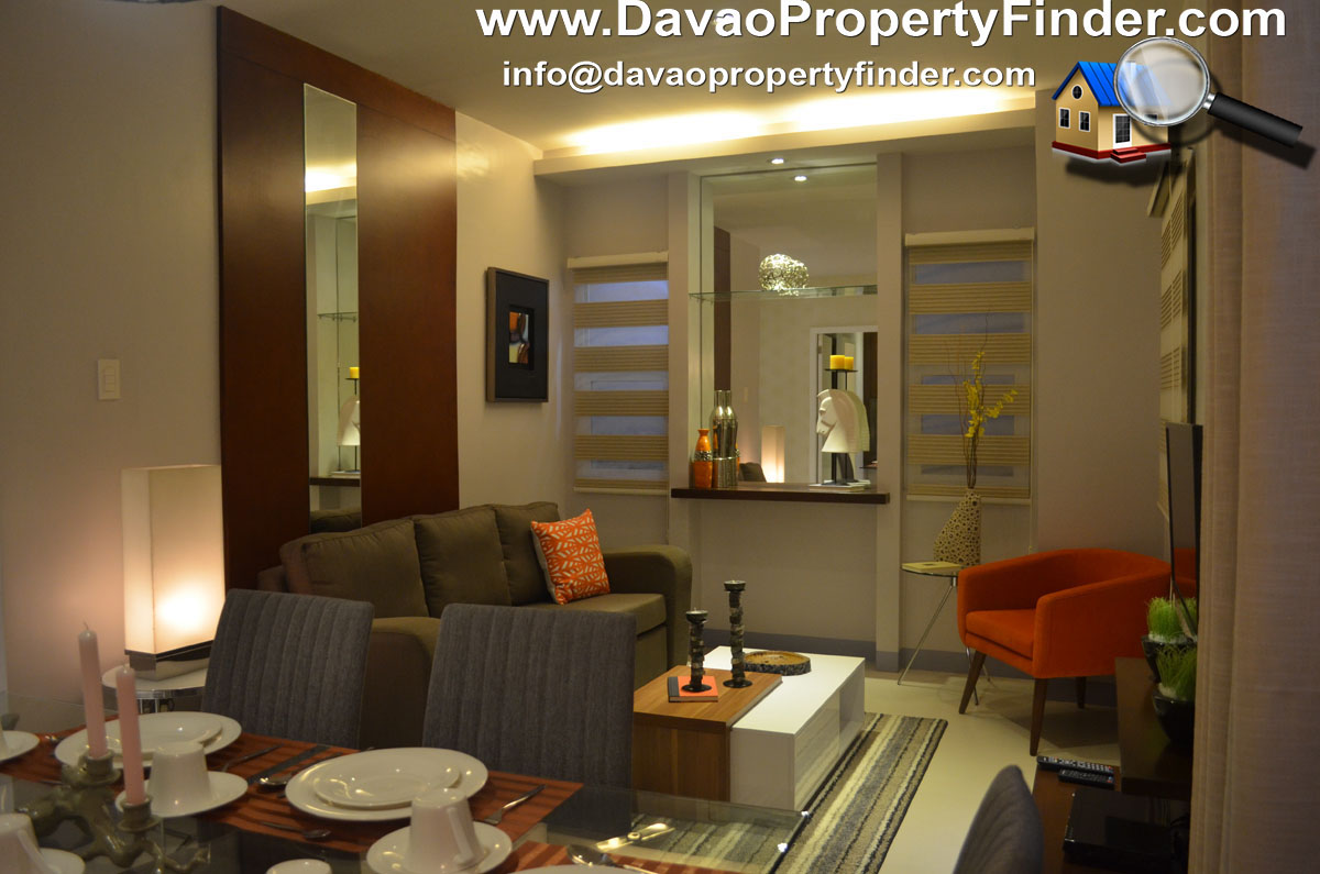 living area, 3-bedroom unit at The Enclaves Residences Matina, Davao City - a project by Esdevco