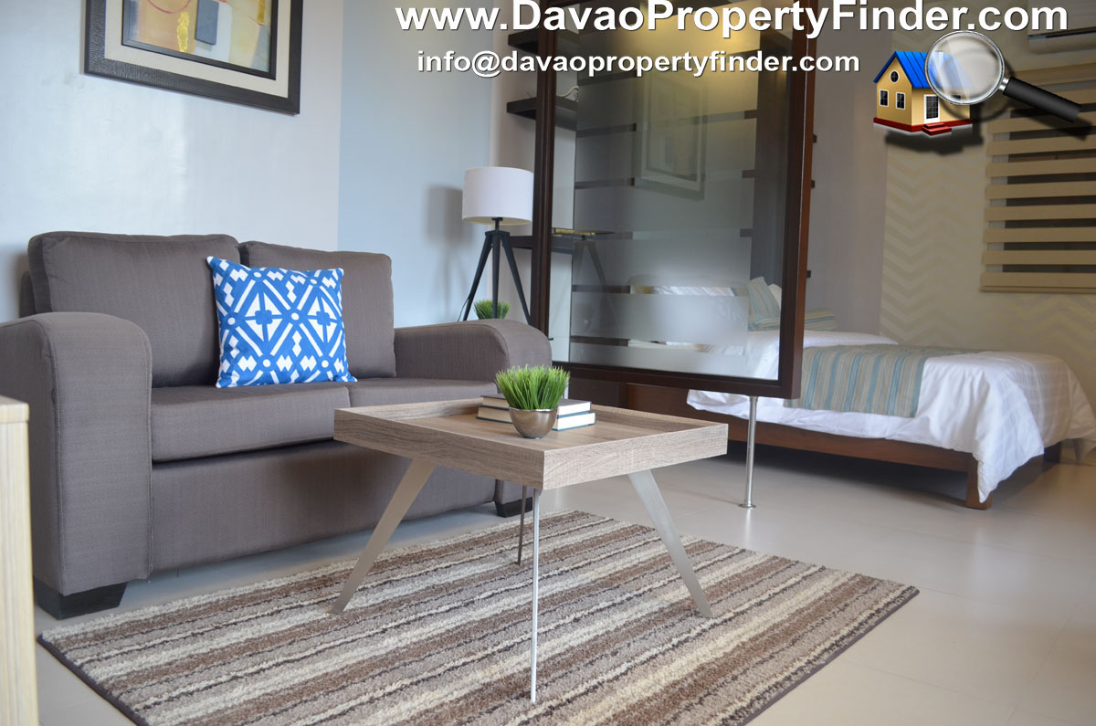 living area 1-bedroom/studio unit at The Enclave Residences Matina