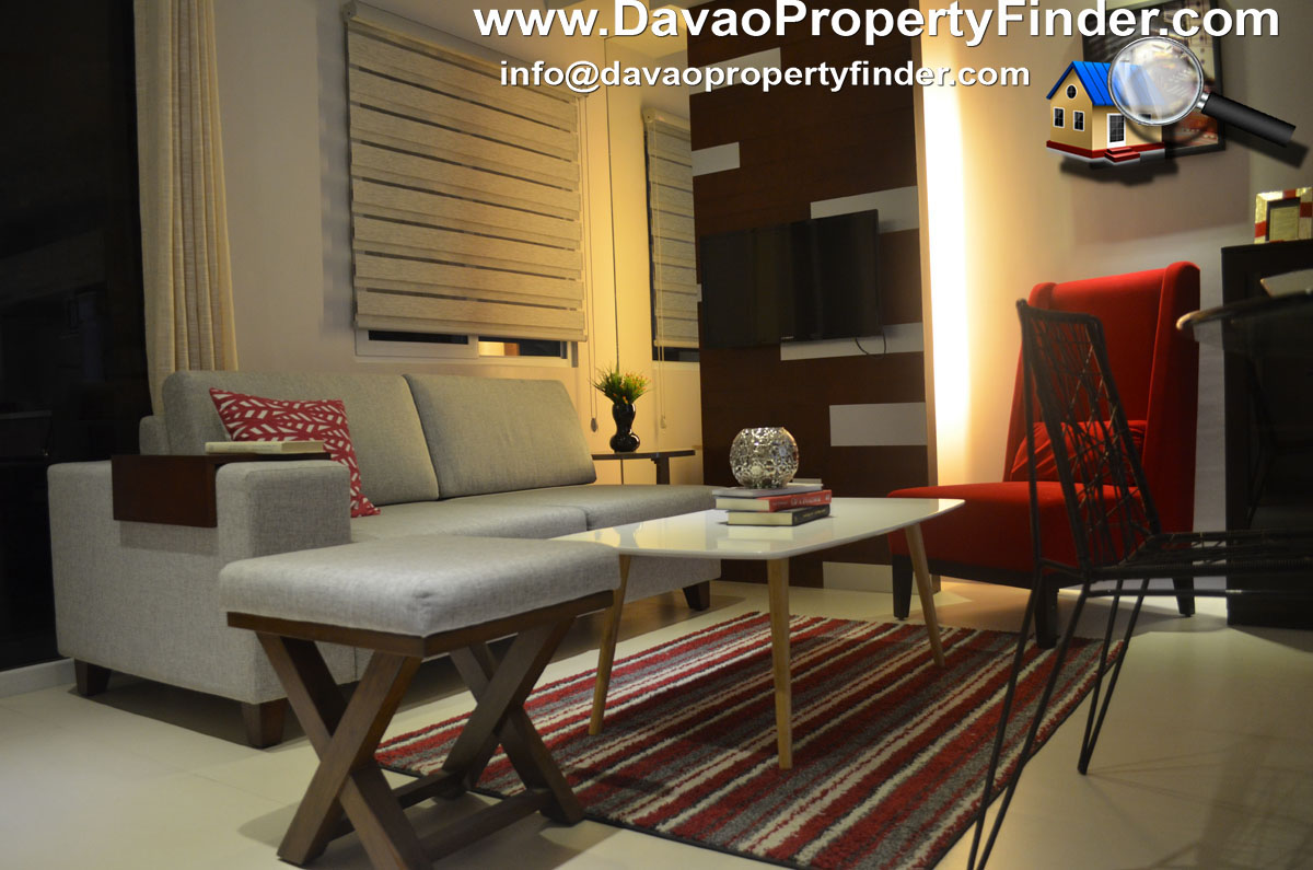 living area 2-bedroom unit at The Enclaves Residences Matina, Davao City