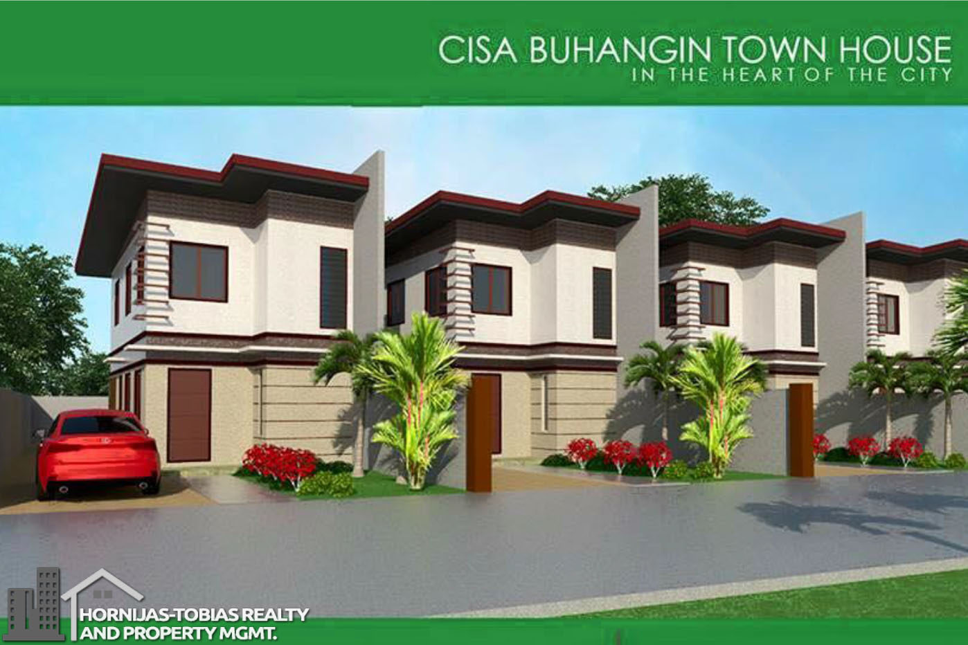 4 bedroom townhouse buhangin cisa model davao property for Four bedroom townhouse