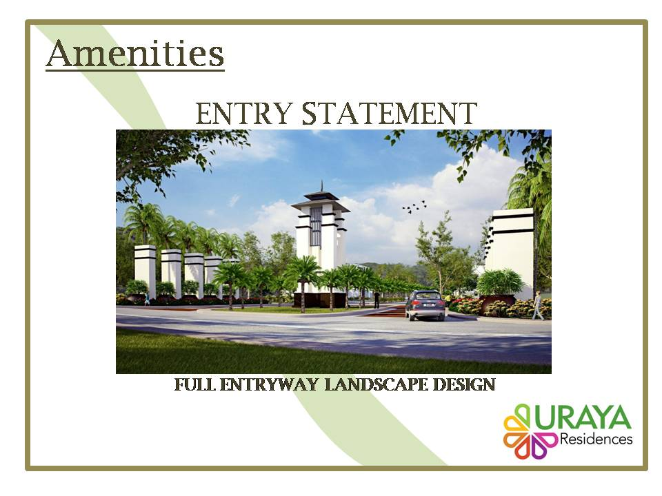 Features and amenities in Uraya Residences Davao City