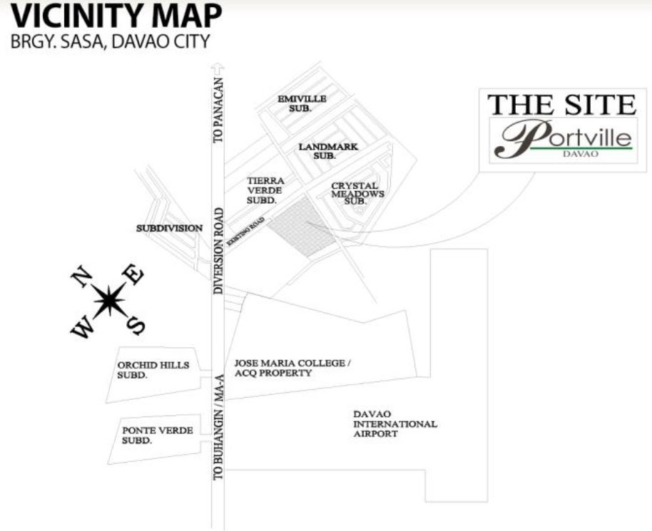 Vicinity Map for Portville Davao
