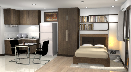 Studio type condo linmarr towers davao property finder for Interior designs for studio type condo