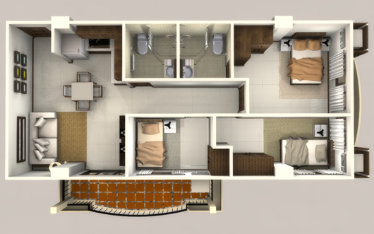 Linmarr towers davao city ht realty philippines davao for Studio type condo interior design photos