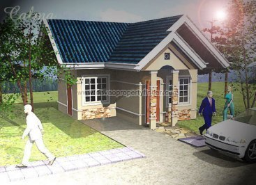 This is Calma house of Chula Vista Residences. This house and lot in Davao has 1 bedroom and 1 toilet and bath. Can be through pag-ibig housing.
