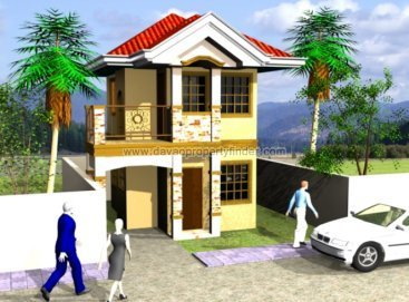 Chula Vista Davao's Luz de la Luna house model. This 2 storey house for sale in Davao has 3 bedrooms and 2 toilets and baths. Can be though Pag-ibig housing.