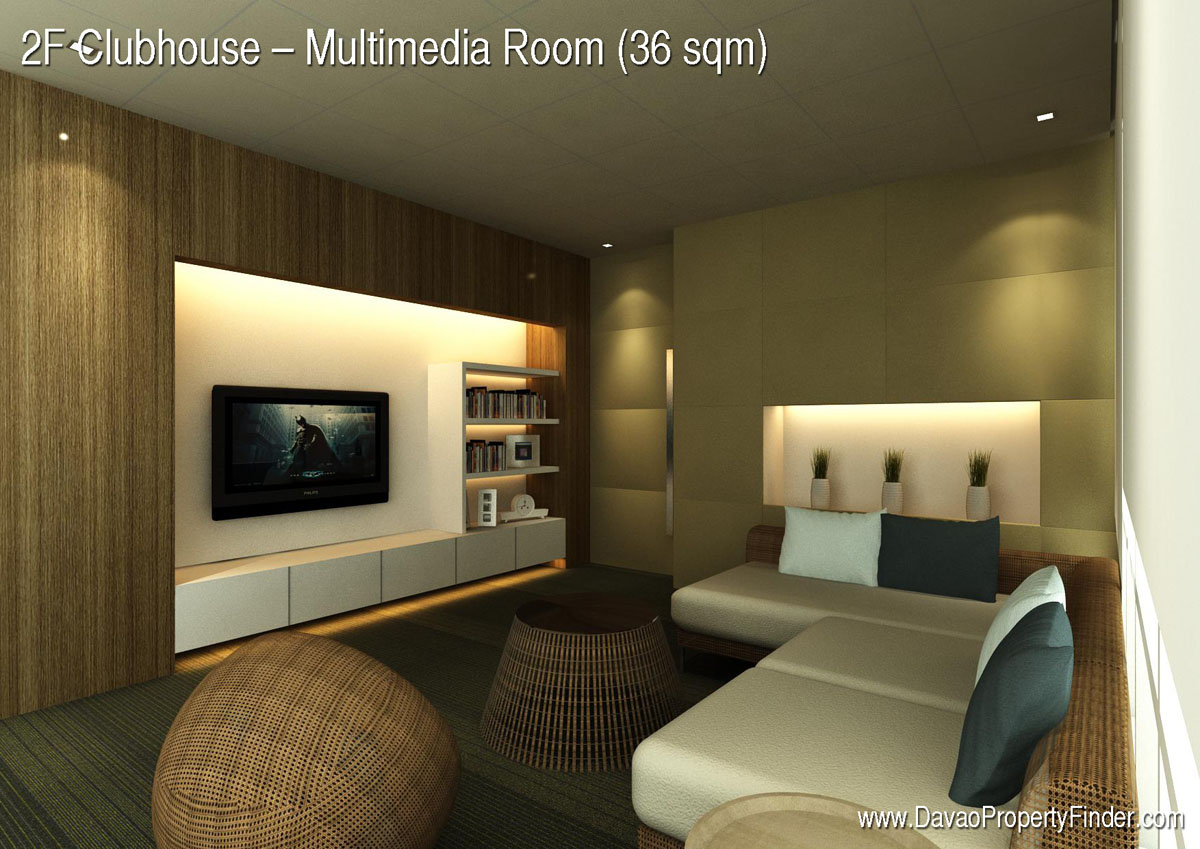 multimedia room at the clubhouse abreeza place davao