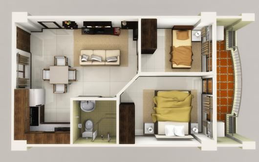 2br condominium unit limnarr towers obrero davao city for 4 unit condo plans