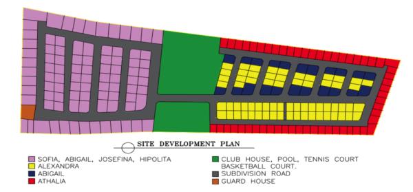 Subdivision Map Alta Josefina Homes Catalunan Grande Davao City