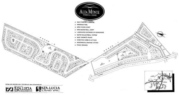 alta monte davao subdivision map