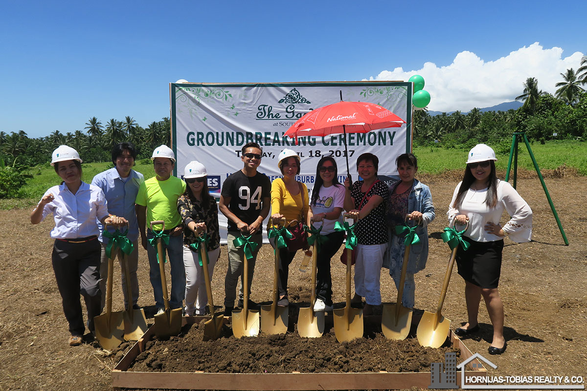 Hornijas-Tobias Realty & Co., one of the few real estate companies invited to the Groundbreaking for The Gardens at South Ridge by Urbaneast Developments, Inc.