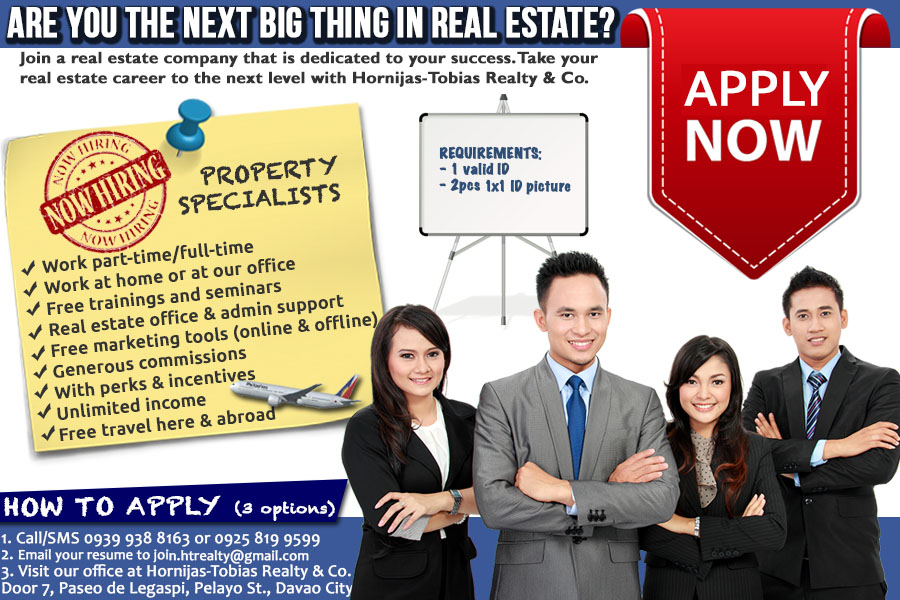 Be a Real Estate Agent in Davao City - Davao Property Finder